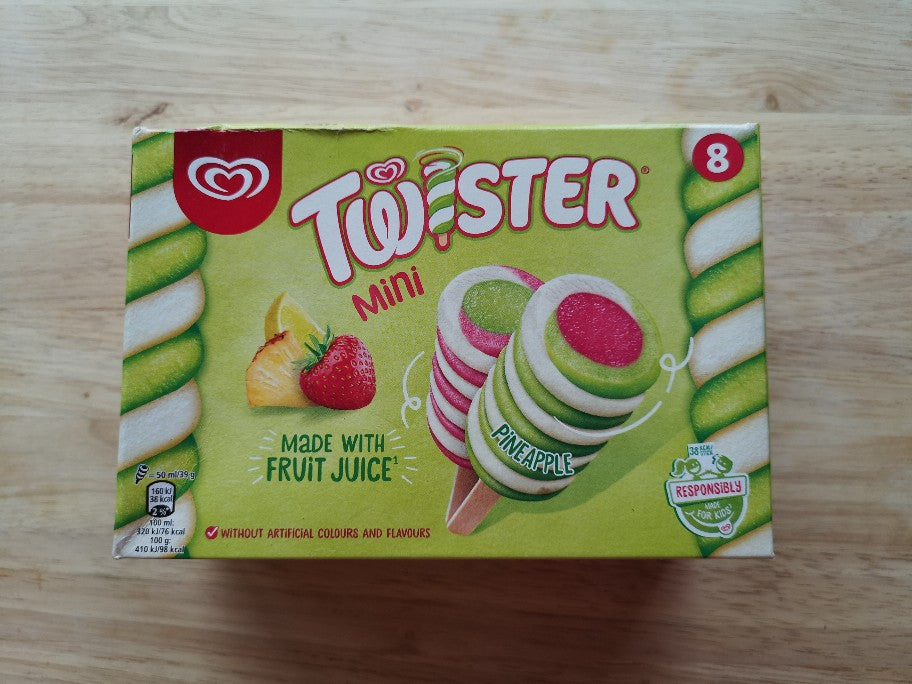 Walls Mini Twister Ice Cream 8 pack