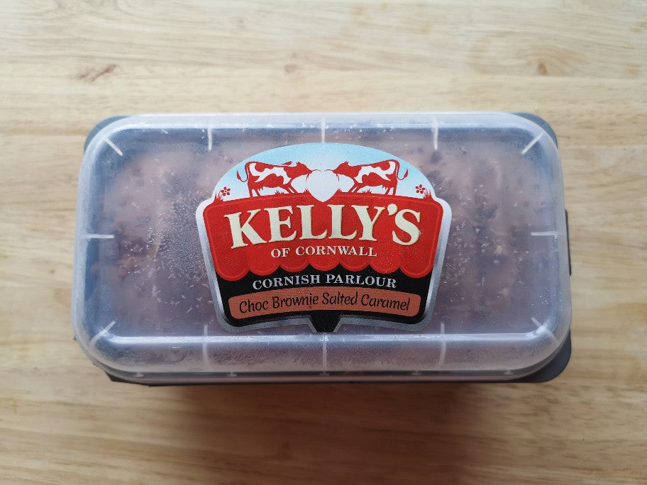 Kellys Choc Brownie Salted Caramel Ice Cream 950ml