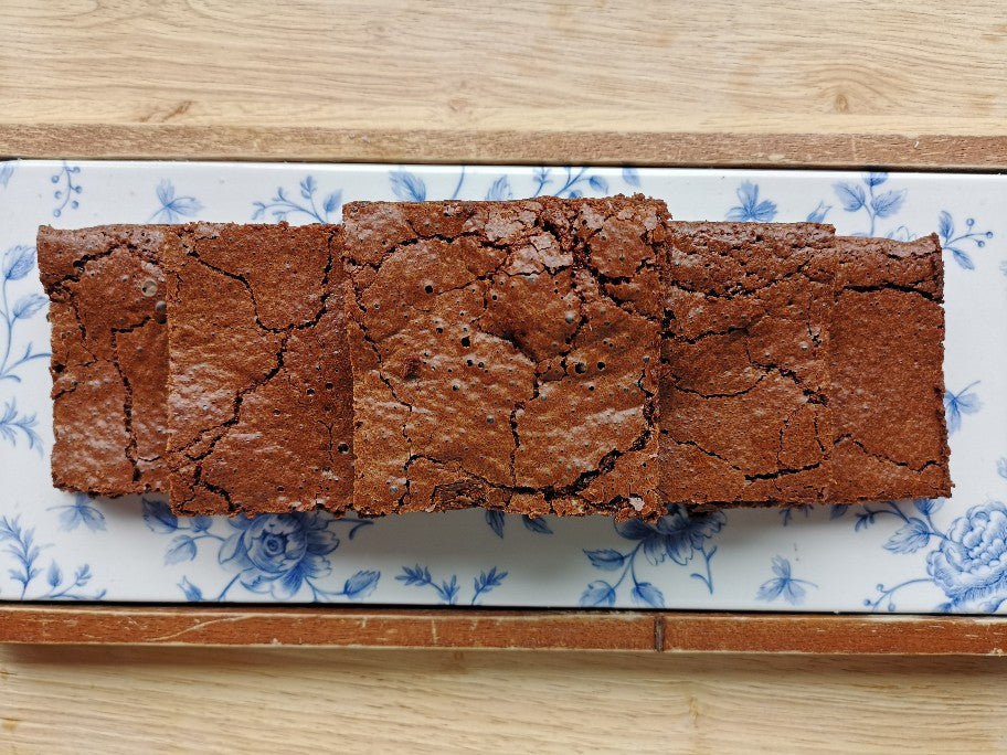 Zoë's Locally Made Flourless Chocolate Brownie Tray of 12 (3 days notice required)
