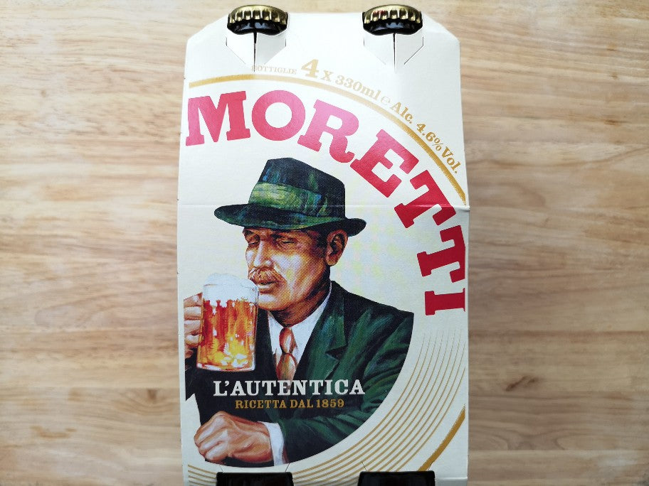 Birra Moretti Lager 4 Pack 330ml Bottles