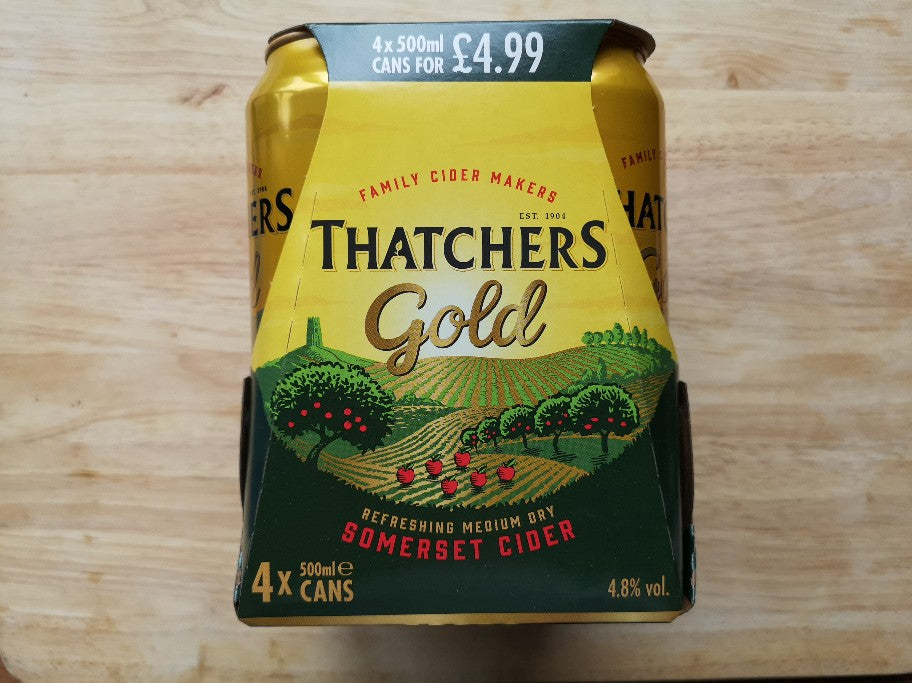 Thatchers Gold Cider 4 x 500ml Cans
