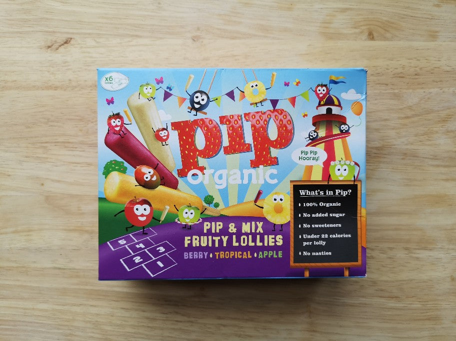 Pip Organic Fruit & Mix Ice Lollies 6 Pack