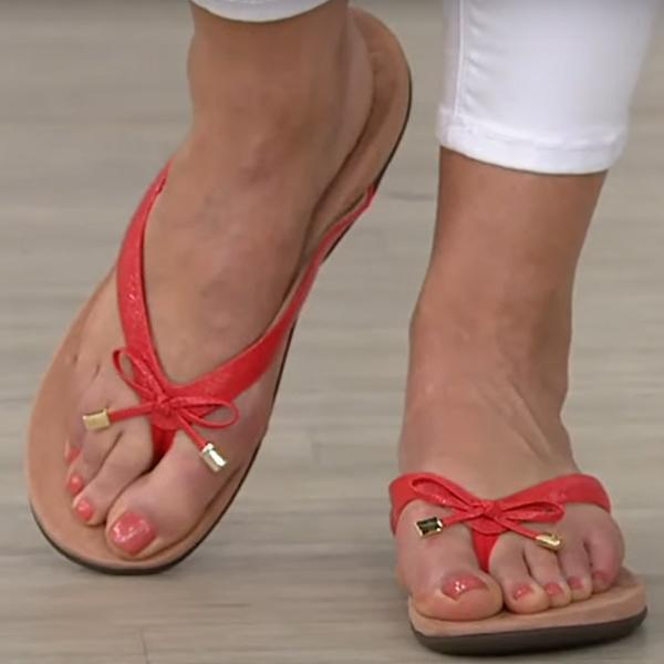 2020 Hot Sale Arch Support Leather Thong Sandals Standard Width 49% OFF