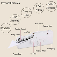 Load image into Gallery viewer, Mini Portable Handheld Sewing Machine