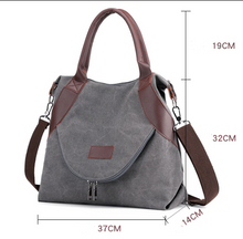 Load image into Gallery viewer, Womens Canvas Messenger Bag