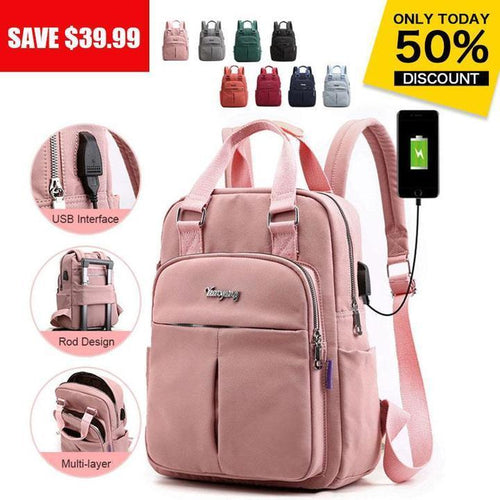 2020 Women's Fashion Anti-theft Large Capacity Waterproof Laptop Backpack With USB Charging Port - Marfuny