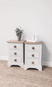 Pair of Slim 3 Drawer Chests