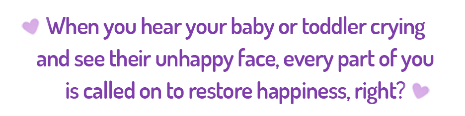 Parents are called on to restore happiness to baby with colic.