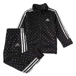 adidas girls Tricot Jacket & Jogger Active Clothing Set