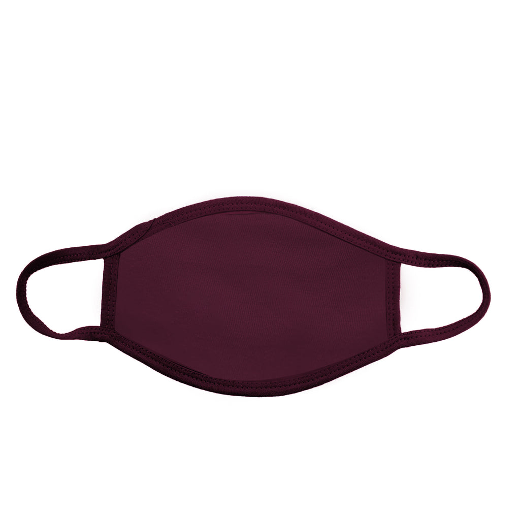 Kids Burgundy Face Cover - Circle Clothing LLC