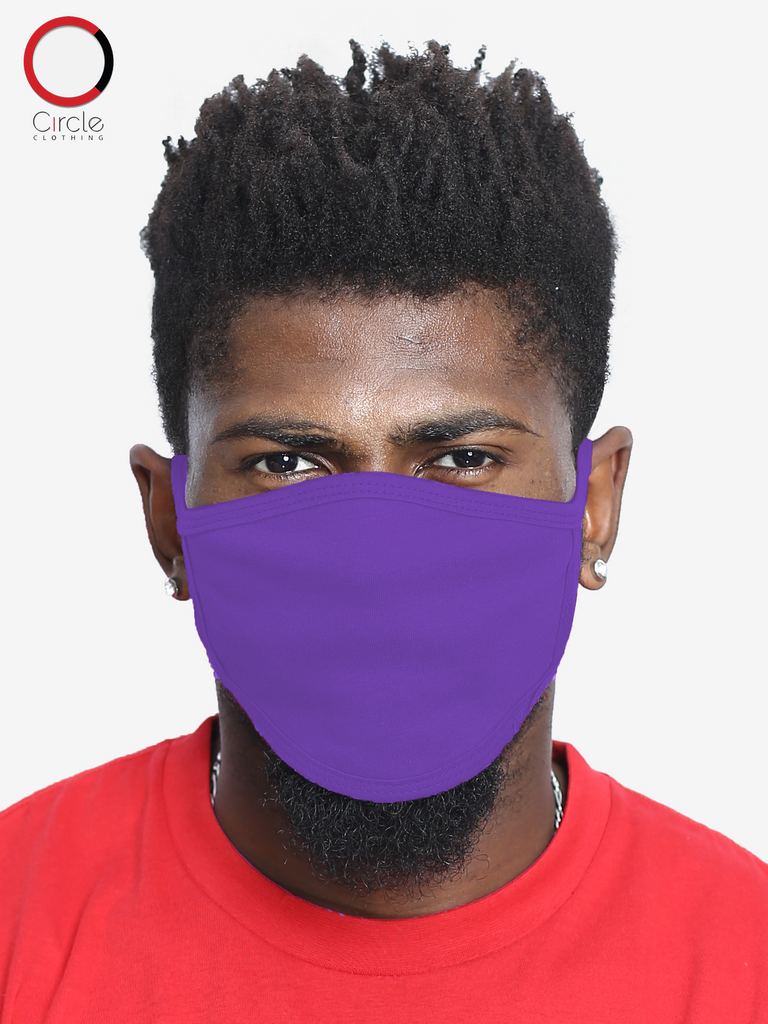 Purple Face Cover (PACK OF 25 PCS) - Circle Clothing LLC