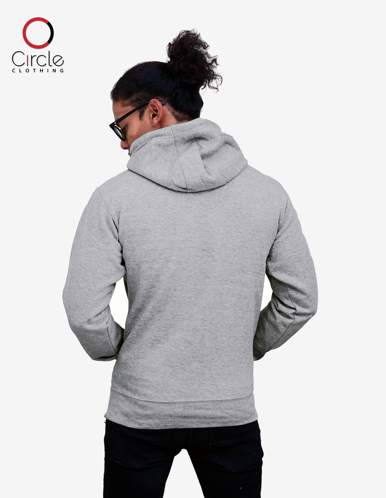 2790 - Unisex Fleece Perfect Pullover Hoodie 8.25 Oz - Heather Grey Color - Circle Clothing LLC
