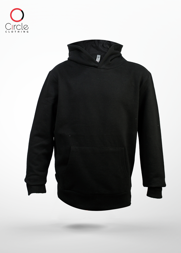 2789 Youth Fleece Pullover Hoodies 7.1 Oz - Black Color - Circle Clothing LLC