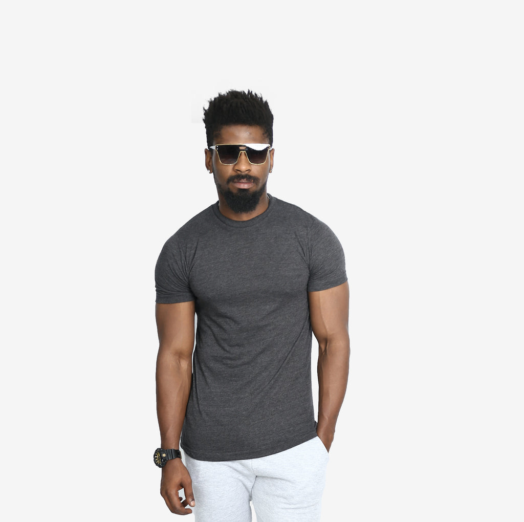 2209 UNISEX TRIBLEND TEE (CHARCOAL HEATHER) - Circle Clothing LLC