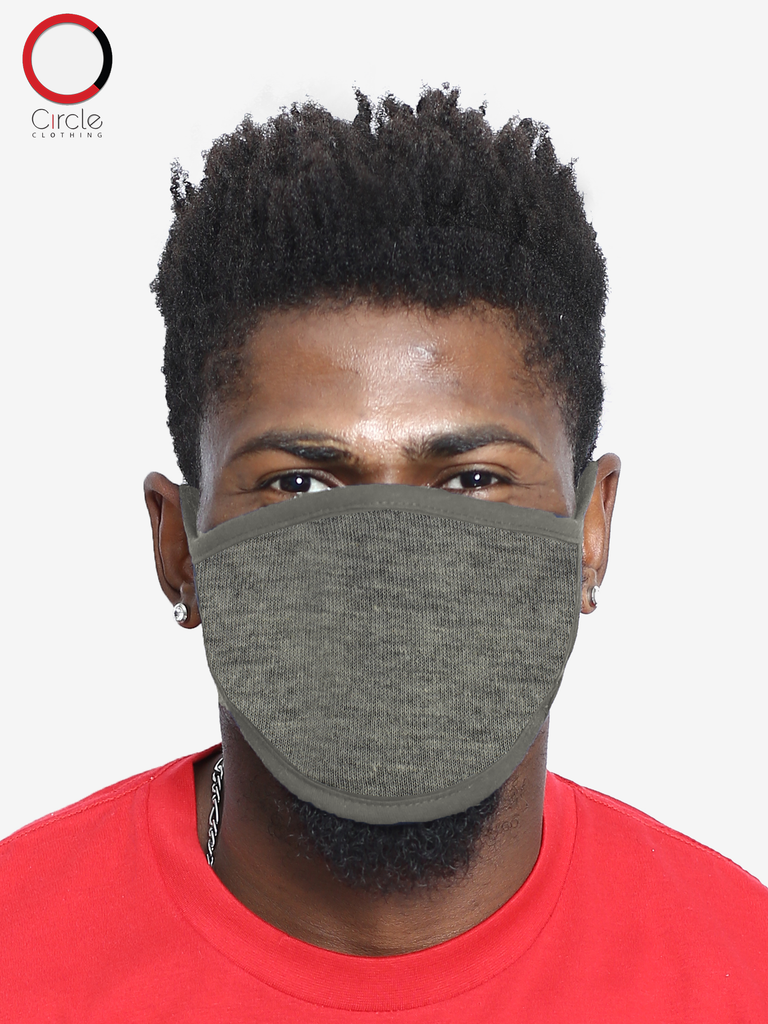 Heather Grey Face Cover (PACK OF 25 PCS) - Circle Clothing LLC