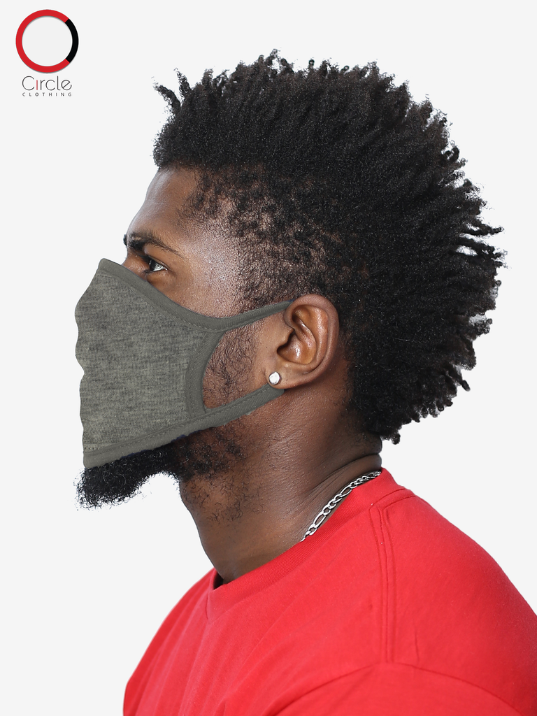 Heather Grey Face Cover - Circle Clothing LLC