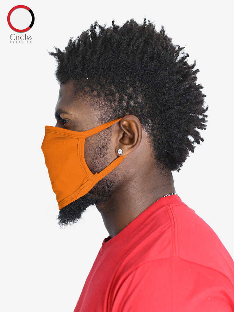Orange Face Cover (PACK OF 25 PCS) - Circle Clothing LLC