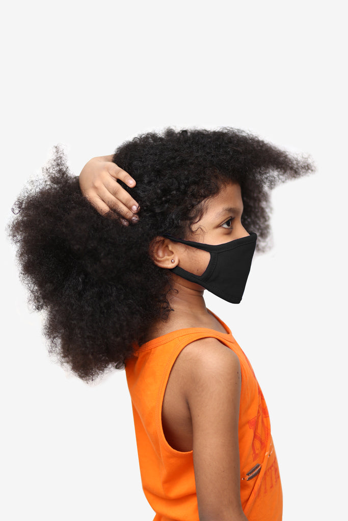 Kids Black Face Cover - Circle Clothing LLC