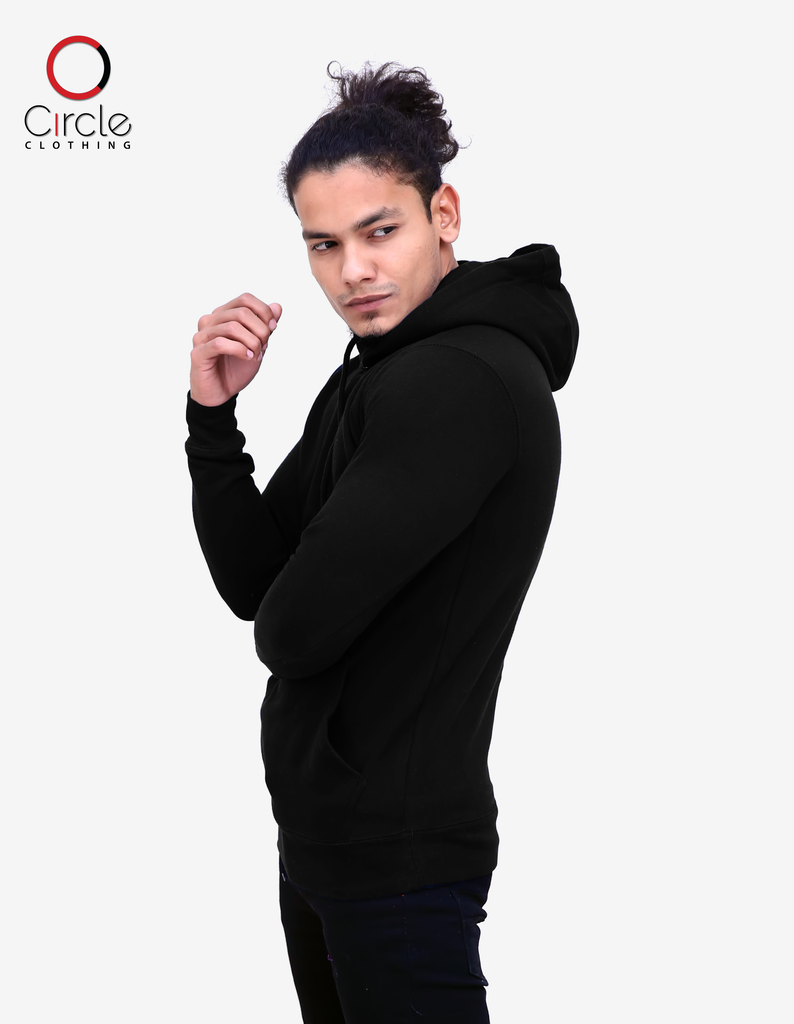 2790 - Unisex Fleece Perfect Pullover Hoodie 8.25 Oz - Black Color - Circle Clothing LLC