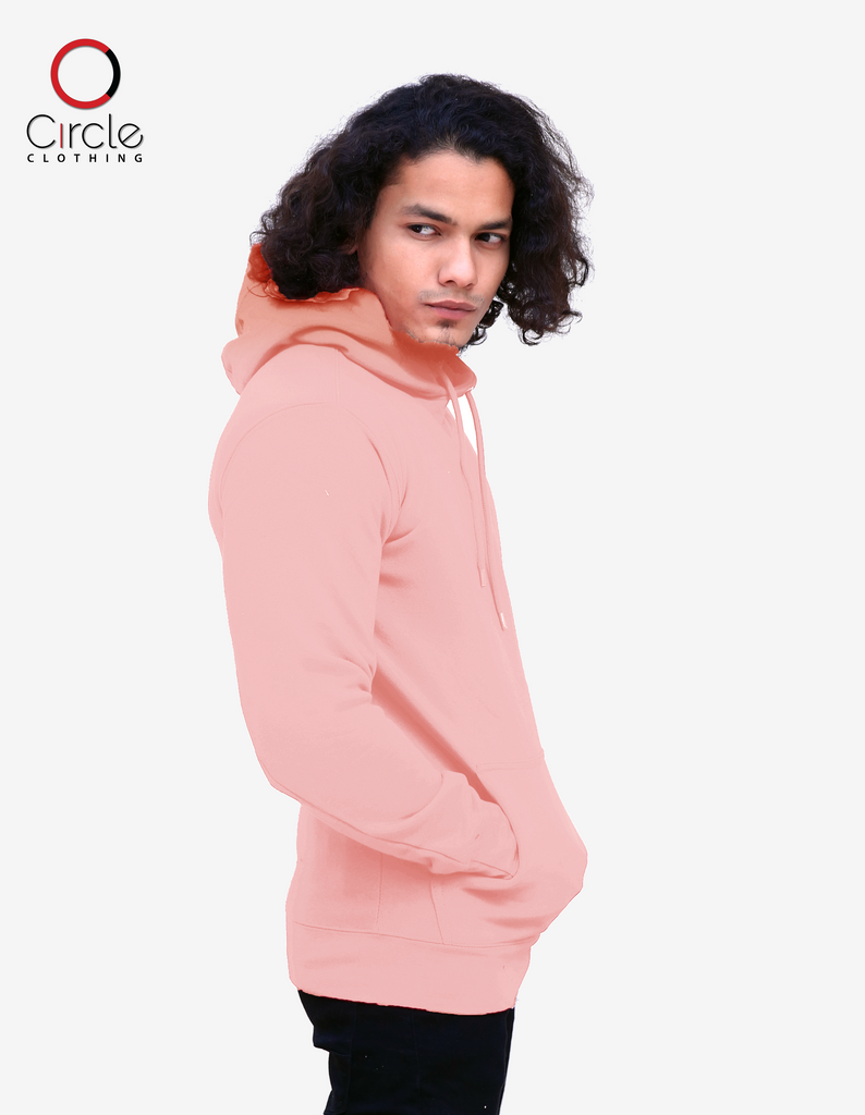 2790 - Unisex Fleece Perfect Pullover Hoodie 8.25 Oz - Powder Pink Color - Circle Clothing LLC