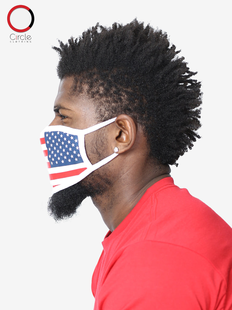 USA Flag Face Cover (PACK OF 24 PCS) - Circle Clothing LLC