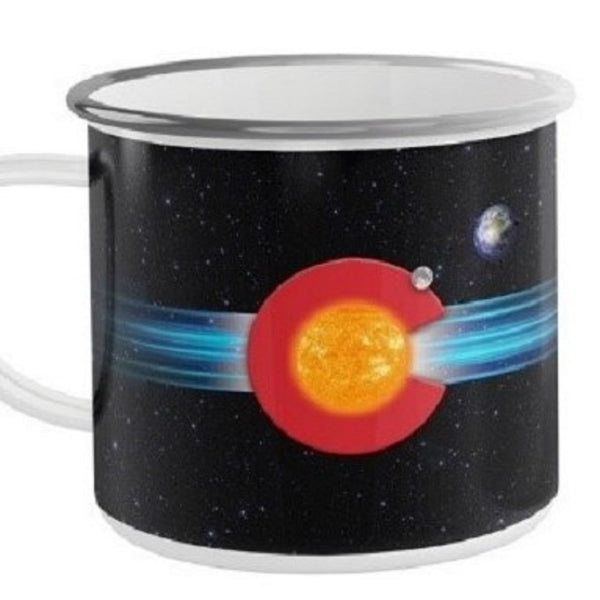 Metal Camp Mug: Colorado Space Flag