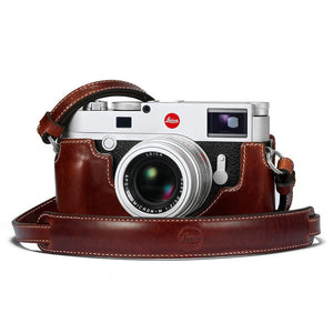 LEICA M10 LEATHER CAMERA PROTECTOR, VINTAGE BROWN
