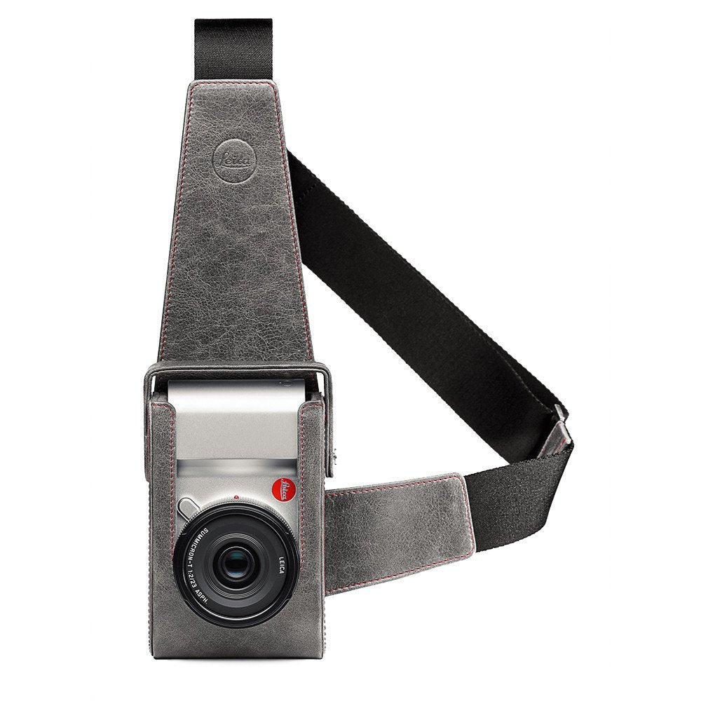 LEATHER HOLSTER FOR LEICA TL, STONE-GREY