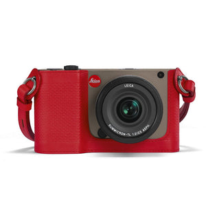 LEICA PROTECTOR FOR TL, LEATHER, RED