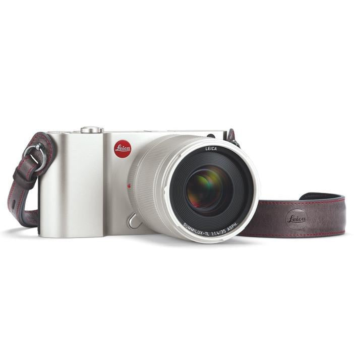 LEICA TL LEATHER NECK STRAP, GREY
