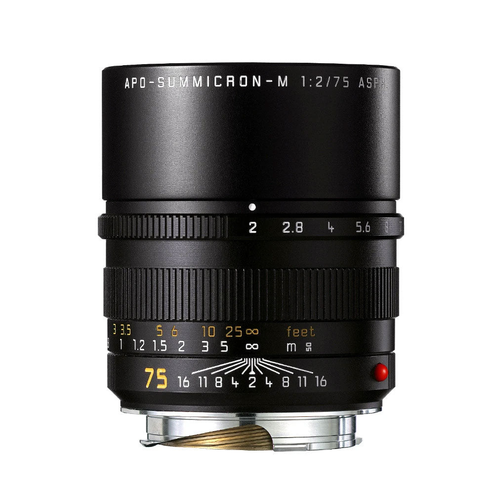 LEICA APO-SUMMICRON-M 75MM f/2 ASPH. BLACK ANODIZED