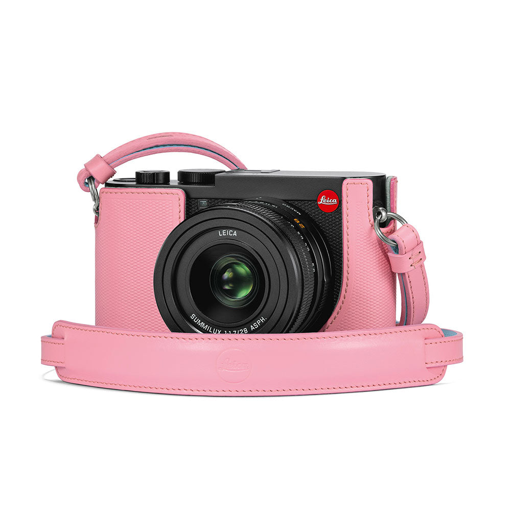 LEICA Q2 LEATHER CARRYING STRAP, PINK - LIMITED EDITION