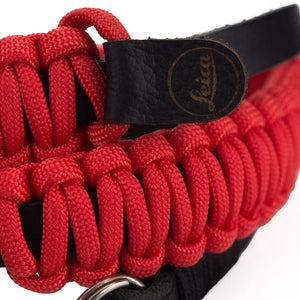 LEICA PARACORD STRAP, BLACK/RED, 126CM, DESIGNED BY COOPH (KEY RING STYLE)