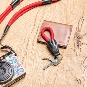 LEICA ROPE KEY CHAIN CREATED BY COOPH, RED