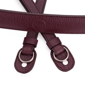 LEICA LEATHER CARRYING STRAP BOYSENBERRY