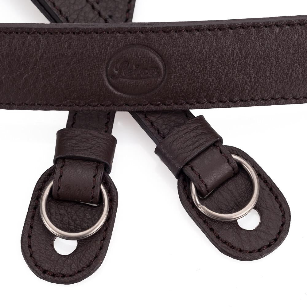 LEICA LEATHER CARRYING STRAP COFFEE