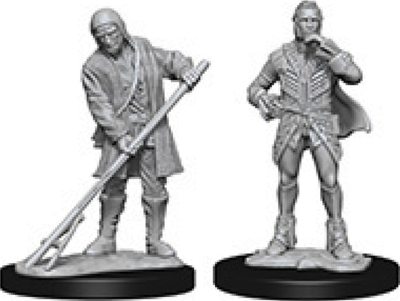 Pathfinder Deep Cuts Unpainted Miniatures: W4 Towns People (Farmer/Aristocrat)