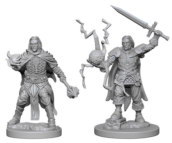 Pathfinder Deep Cuts Unpainted Miniatures: W1 Human Male Cleric