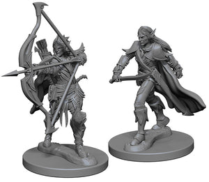 Pathfinder Deep Cuts Unpainted Miniatures: W1 Elf Male Fighter