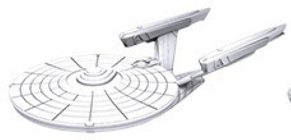 Star Trek Deep Cuts Unpainted Ships: Constitution Class (refit)