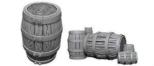 WizKids Deep Cuts Unpainted Miniatures: W5 Barrel & Pile of Barrels