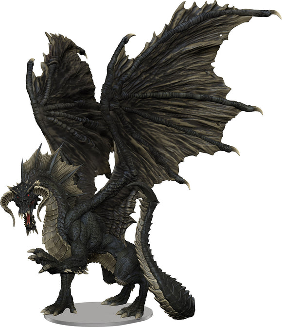 Dungeons & Dragons Fantasy Miniatures: Adult Black Dragon Premium Figure