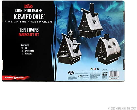 Dungeons & Dragons Fantasy Miniatures: Icons of the Realms Icewind Dale: Rime of the Frostmaiden - Ten Towns Papercraft Set