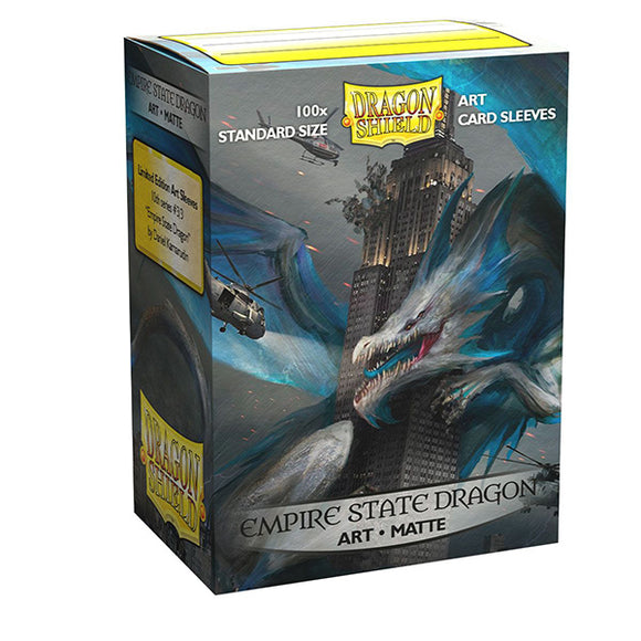 Dragon Shield Sleeves: Standard- Matte 'Empire State Dragon' Art, Limited Edition (100 ct.)