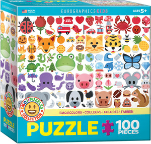 EuroGraphics Emoji Colors 100-Piece Puzzle