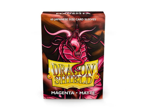Dragon Shield Sleeves: Japanese- Matte Mgaenta (60 ct.)