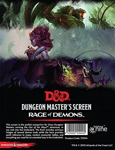 D&D 5th Edition: DM Screen- Out of the Abyss
