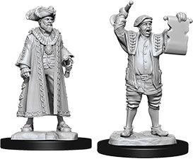 WizKids Deep Cuts Unpainted Miniatures: W10 Mayor & Town Crier