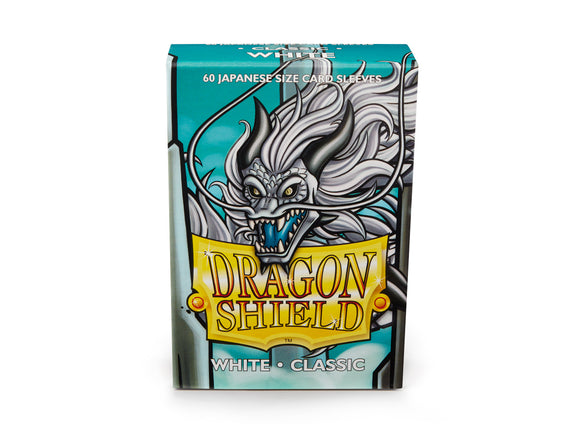 Dragon Shields: (60) Classic White Japanese Sleeves