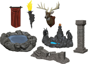 WizKids Deep Cuts Unpainted Miniatures: W11 Pools & Pillars